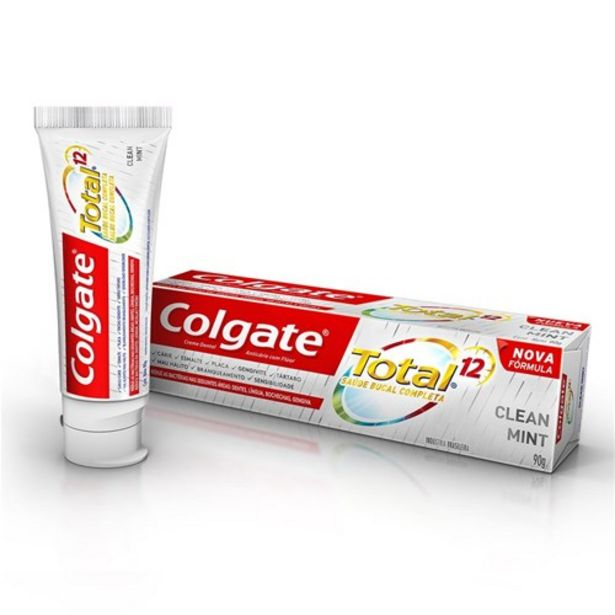 Oferta de Creme Dental Colgate Total 12 Clean Mint 90G por R$4,99