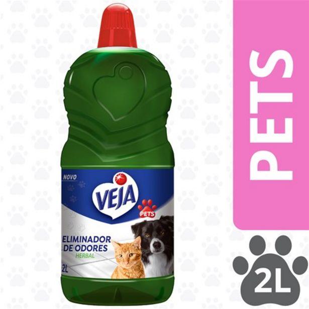 Oferta de Limpador Pets Veja Desodorizador Perfumado Veja Herbal 2L por R$20,9