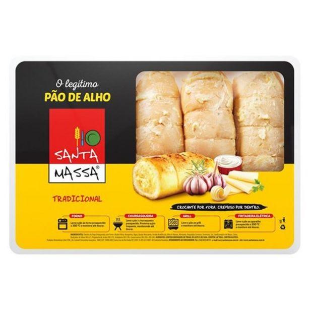 Oferta de Pão de Alho Santa Massa Tradicional Pacote 400G por R$9,98