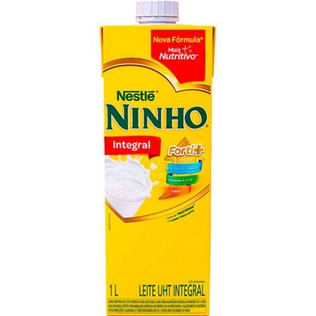 Oferta de Leite Nestlé Uht Ninho Integral 1 Litro por R$4,39