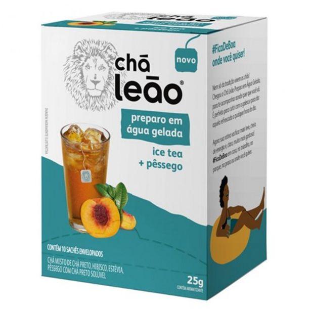 Oferta de Chá Leão Cold Brew Pessego 10Un por R$9,52