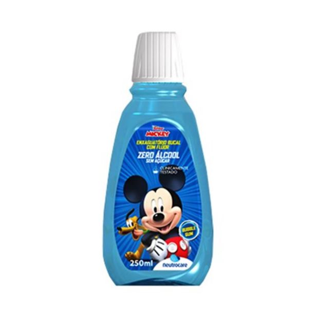 Oferta de Enxaguante Bucal Neutrocare Mickey 250Ml por R$11,12