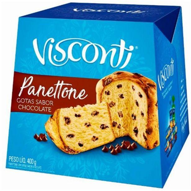 Oferta de Panetone Visconti Gotas Chocolate Embalagem 400G por R$16,95