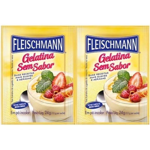 Oferta de Gelatina Fleischmann sem Sabor Embalagem 24G por R$7,41