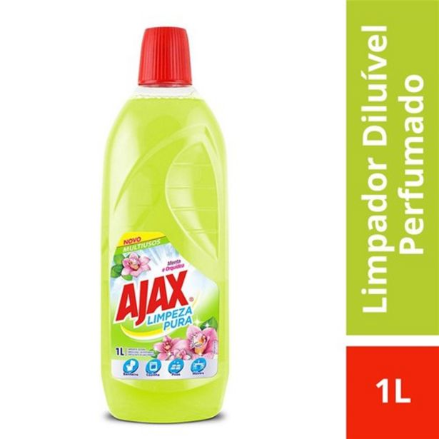 Oferta de Limpador Ajax Limpeza Pura Menta e Orquídea 1 Litro por R$9,52