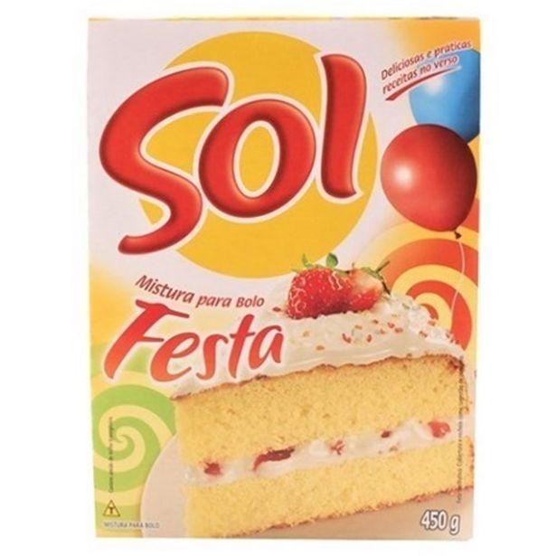 Oferta de Mistura para Bolo Sol Festa Caixa 450G por R$4,55