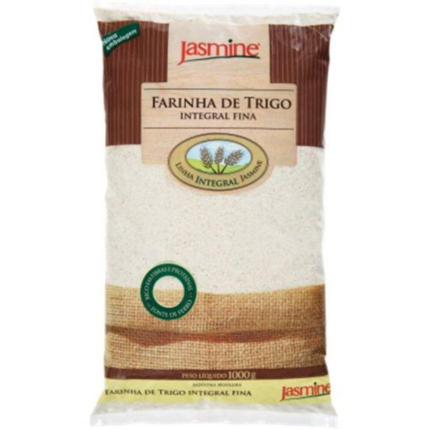 Oferta de Farinha de Trigo Jasmine Integral Fina Pacote 1Kg por R$12,7