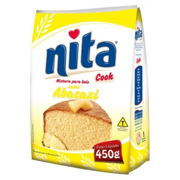 Oferta de Mistura para Bolo Nita Cook Abacaxi Pacote 450G por R$4,55