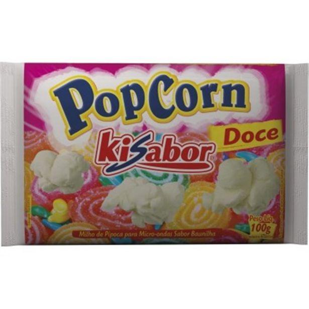 Oferta de Pipoca Microondas Doce Kisabor 100G por R$2,43