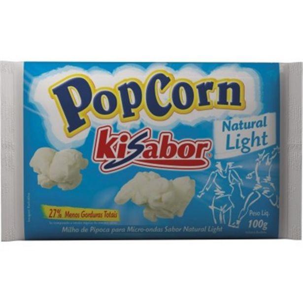 Oferta de Pipoca de Microondas Kisabor Natural Light Pacote 100G por R$3,49