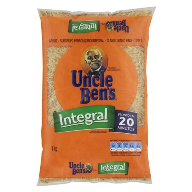 Oferta de Arroz Integral Tipo 1 Uncle Ben's 1Kg por R$6,77