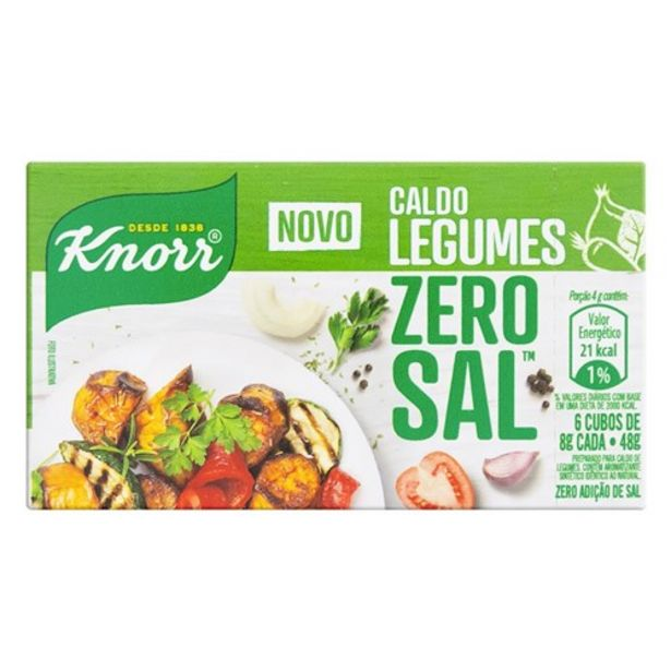Oferta de Caldo de Legumes Zero Adicional Sal Knorr 48G por R$3,45