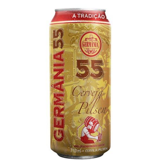 Oferta de Cerveja Germania 55 Pilsen Lata 710Ml por R$6,34