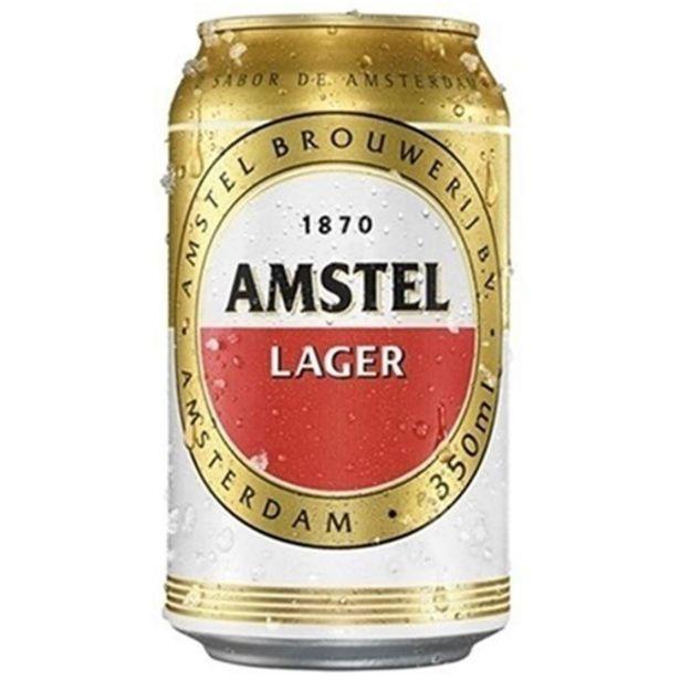 Oferta de Cerveja Amstel Lata 350Ml por R$3,38
