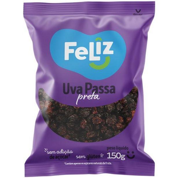 Oferta de Uva Passa Preta Uva Feliz Embalagem 150G por R$6,34