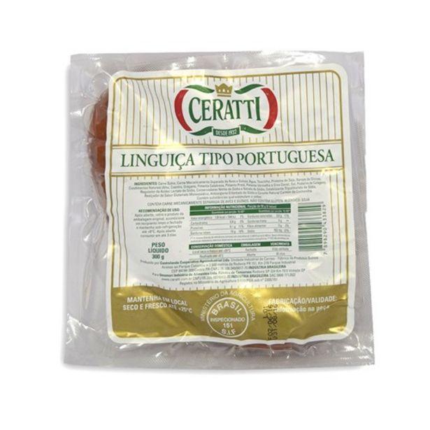 Oferta de Linguiça Portuguesa Ceratti Embalagem 300G por R$9,98