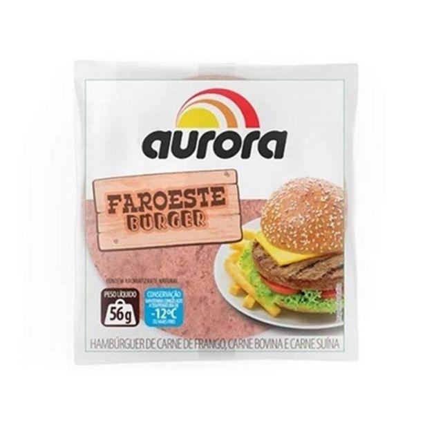 Oferta de Hambúrguer Faroeste Aurora Misto 56G por R$1,58