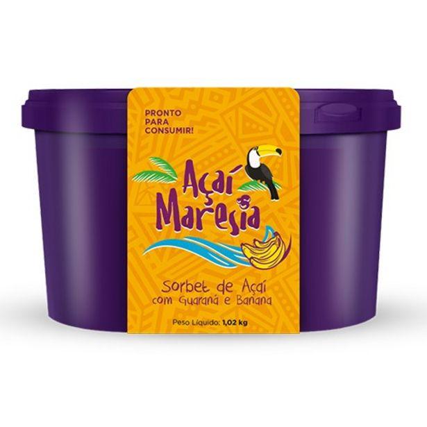 Oferta de Açaí Maresia Banana e Guaraná 1,02Kg por R$26,48