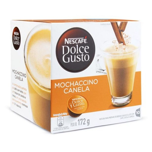 Oferta de Café Cápsula Dolce Gusto Mochaccino Canela 10Un por R$20,12