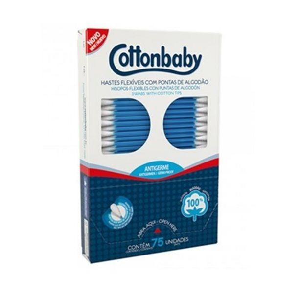 Oferta de Haste Flexível Cottonbaby 75Un por R$2,43