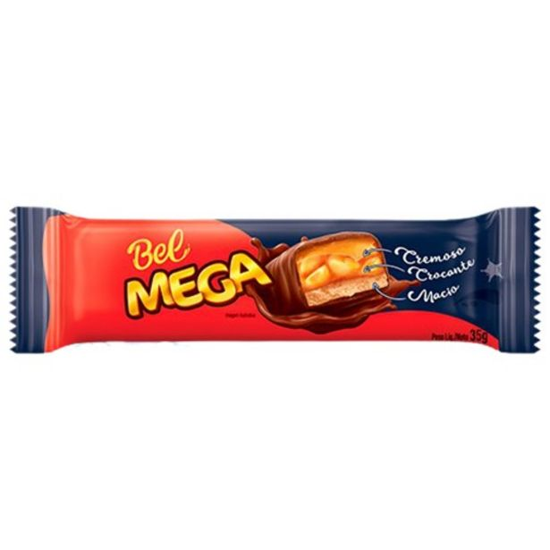 Oferta de Chocolate Bel Mega Caramelo 35G por R$2,1