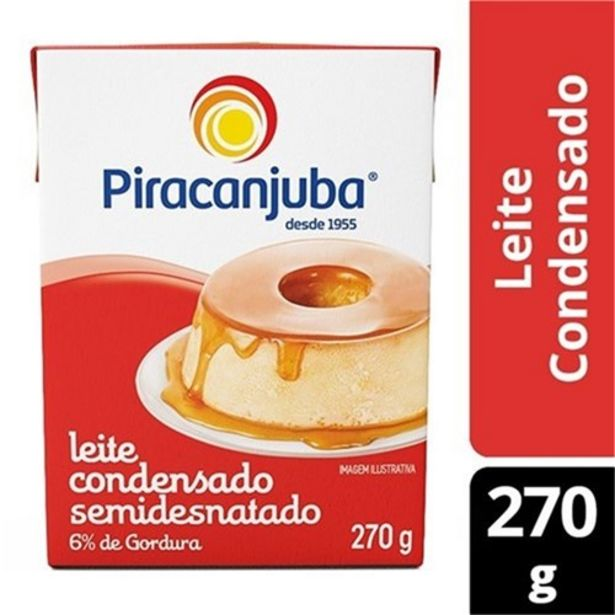 Oferta de Leite Condensado Piracanjuba 270G por R$4,02