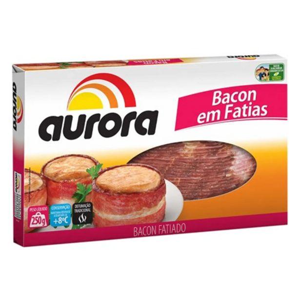 Oferta de Bacon Aurora Fatiado 250G por R$21,18