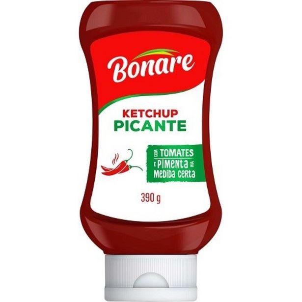 Oferta de Ketchup Bonare Picante Embalagem 390G por R$3,49
