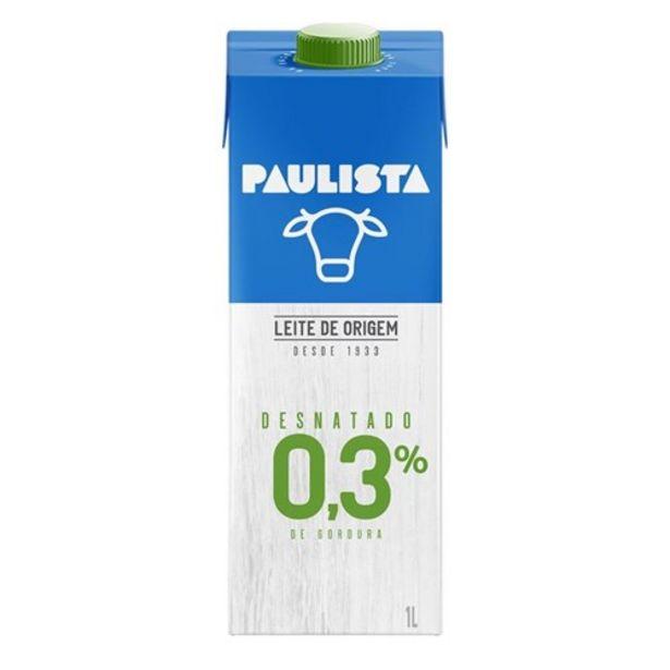 Oferta de Leite Uht Longa Vida Desnatado Paulista 1L por R$4,65