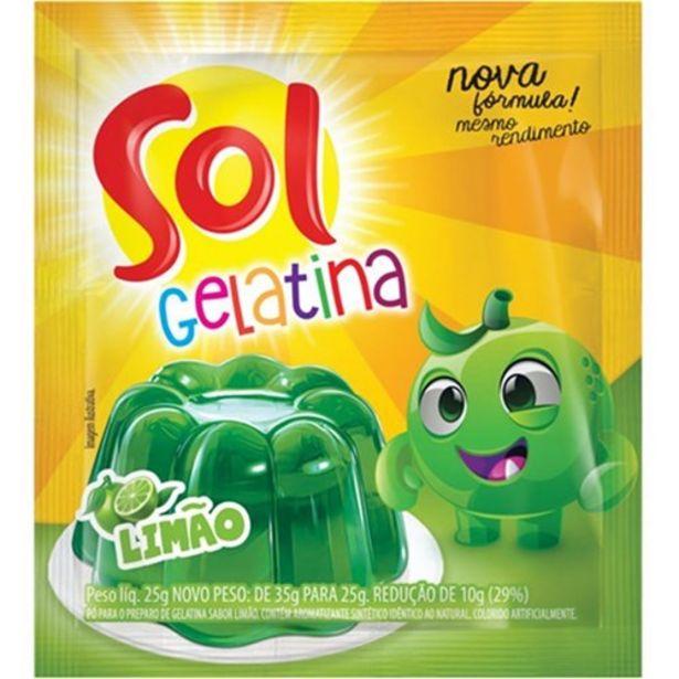 Oferta de Gelatina Sol Limão 25G por R$1,47