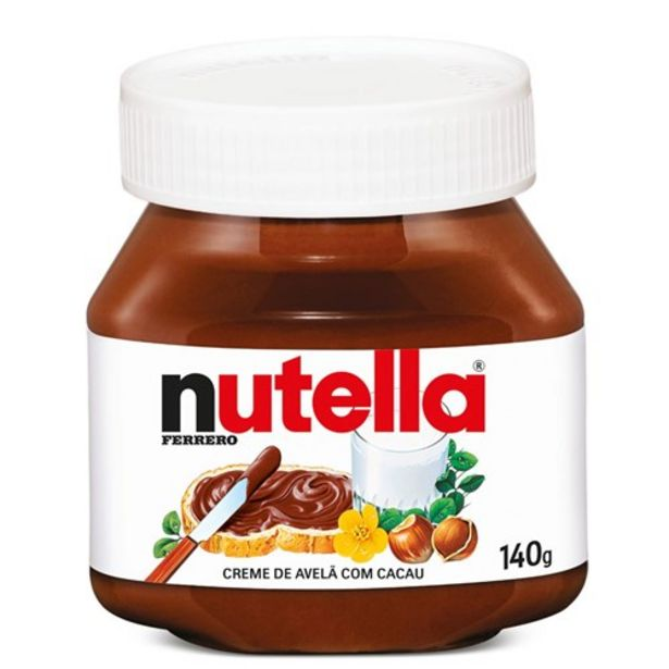 Oferta de Creme de Avelã com Cacau Nutella 140G por R$10,58