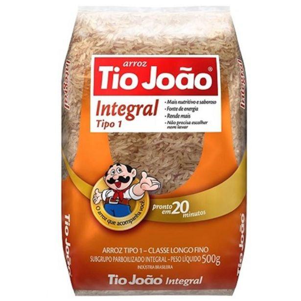 Oferta de Arroz Integral Tio João Embalagem 1Kg por R$7,4