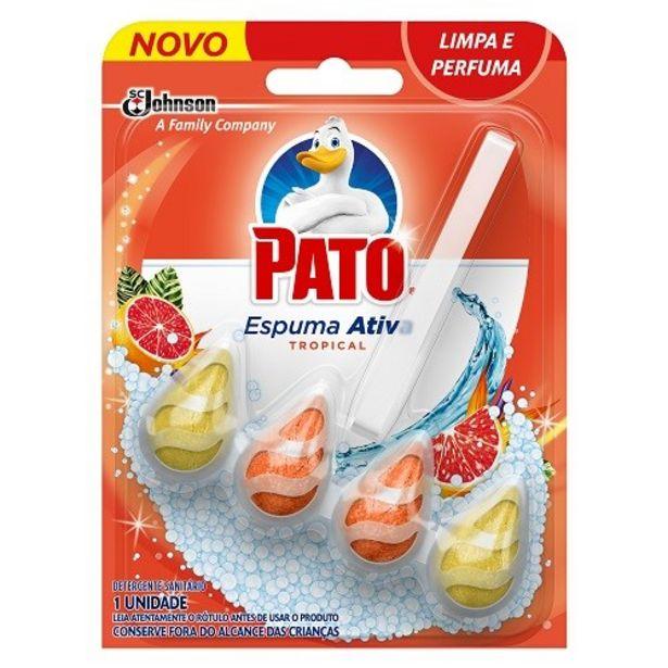 Oferta de Bloco Sanitário Pato Espuma Ativa Tropical Embalagem 8G por R$11,64