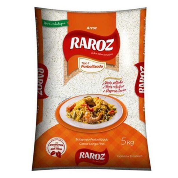 Oferta de Arroz Parboilizado Raroz Embalagem 5Kg por R$21,18