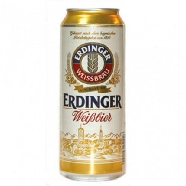 Oferta de Cerveja Importada Erdinger Weibbier Lata 500Ml por R$21,18
