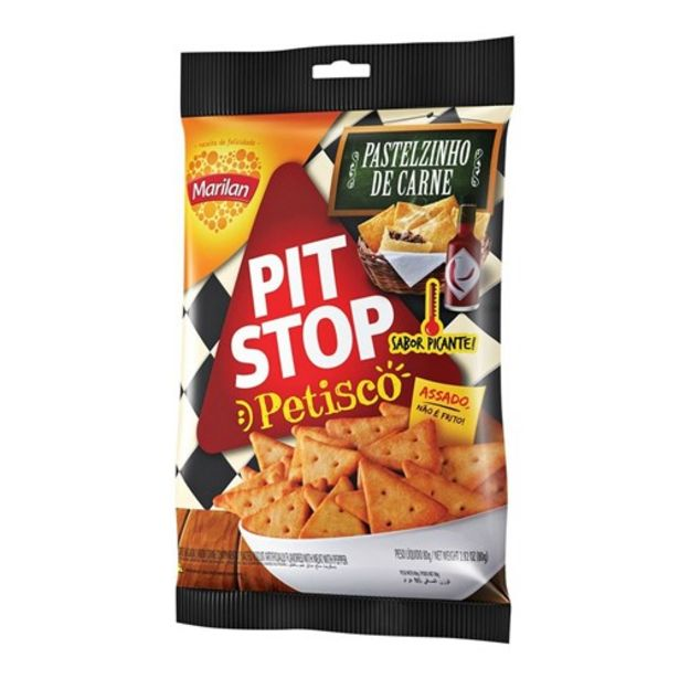 Oferta de Snack Pit Stop Pastelzinho de Carne 80G por R$3,59