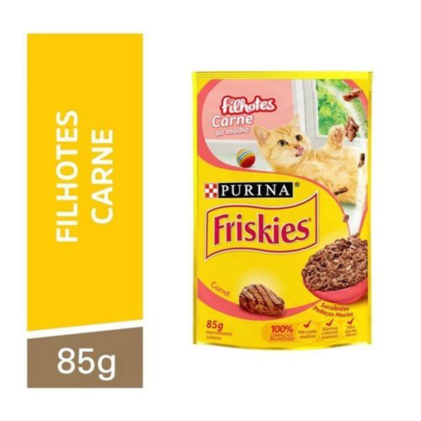 Oferta de Nestlé® Purina® Friskies® Ração Úmida para Gatos Filhotes Carne Ao Molho 85G por R$2,32