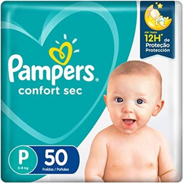Oferta de Fralda Pampers Total Conforte Mega P com 50 Unidades por R$55,1