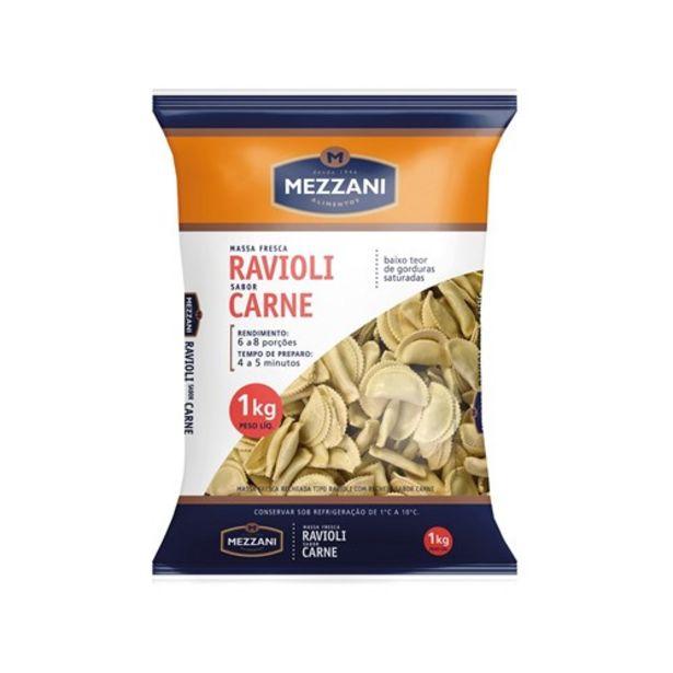 Oferta de Ravioli Carne Mezzani Embalagem 1Kg por R$23,3
