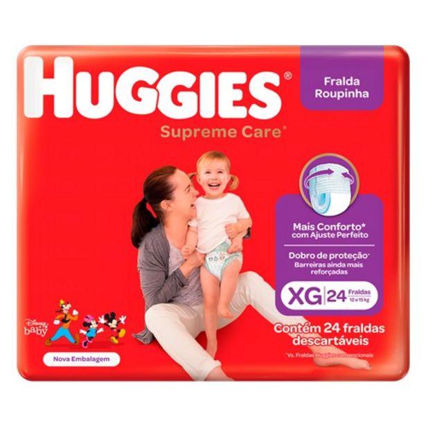 Oferta de Fralda Huggies Supreme Care Roupinha Xg Pacote 24Un por R$52,98