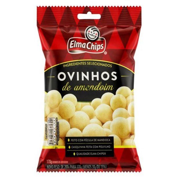 Oferta de Ovinhos de Amendoim Elma Chips 170G por R$7,41