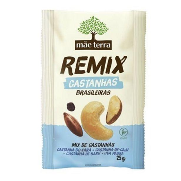 Oferta de Mix Mãe Terra Remix Castanhas Brasileiras 25G por R$6,34
