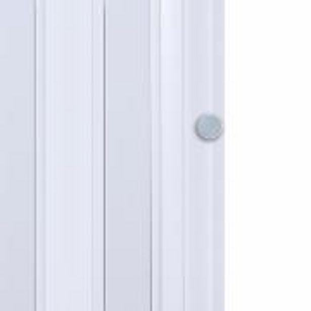 Oferta de Porta Sanfonada de PVC Easy Lock 60cm x 210cm Branco - Araforros por R$99,9