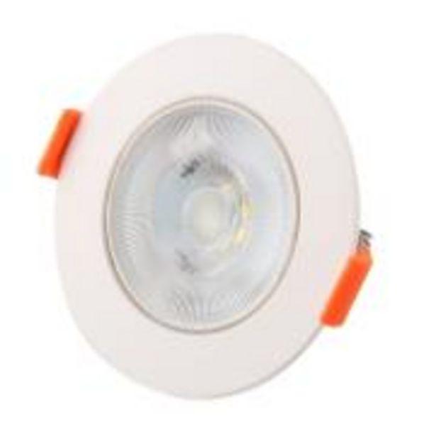 Oferta de Spot LED de Embutir Plástico Redondo 3W 110-240V Luz Amarela - ... por R$9,9