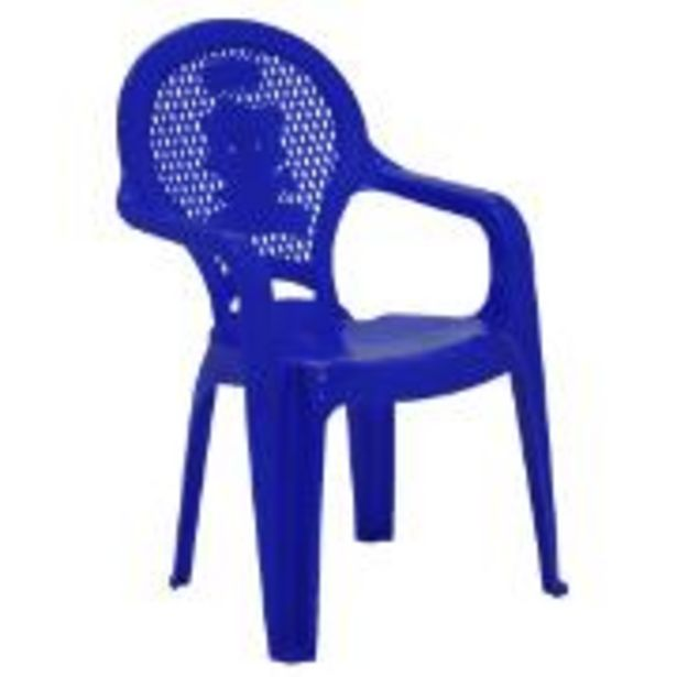 Oferta de Poltrona Infantil de Plástico Estampada Azul 92264070 - Tramontina por R$29,9