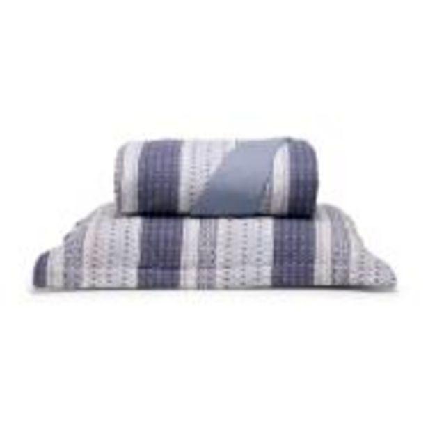Oferta de Cobre Leito Casal com Porta Travesseiro Benjamim Azul -... por R$269,9