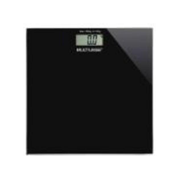Oferta de Balança Digital de Banheiro Digi-Health HC021 Quadrada Preta - ... por R$59,9