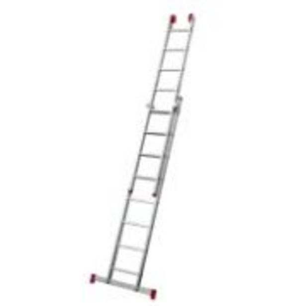 Oferta de Escada Extensível em Alumínio 5,56m 11 Degraus Prata 150kg -... por R$659
