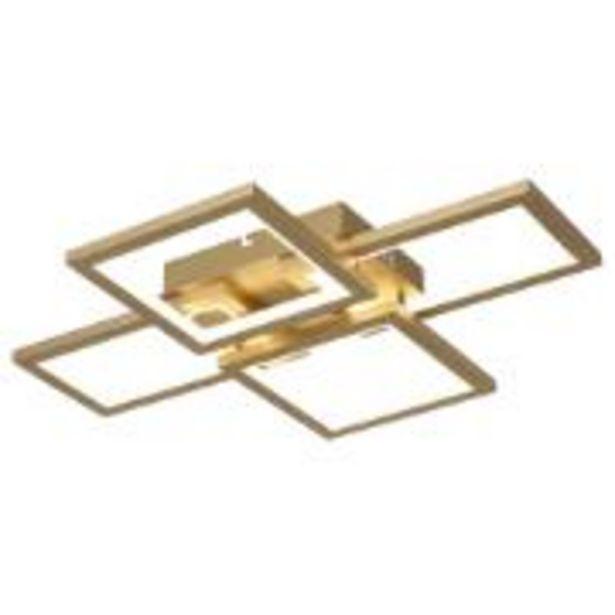 Oferta de Luminária de Teto LED Quadrada 50W Dourado - Nitrolux por R$799