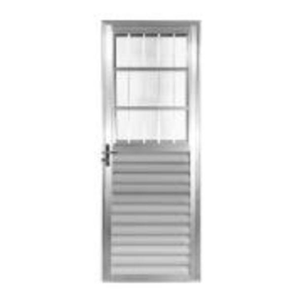 Oferta de Porta de Abrir de Alumínio 210x80 cm Postigo Lado Direito - ... por R$499